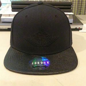 Air Jordan Black Wings Logo Snapback